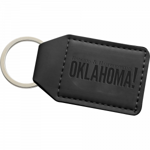 Logo Leather Keychain